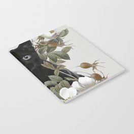 Cat With Flowers Notebook