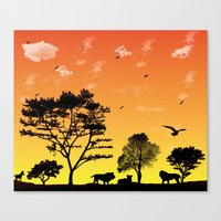 safari Canvas Prints featuring Safari by Kaitlynn Marie
