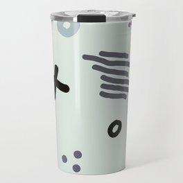 Modern hand draw abstract seamless pattern Travel Mug