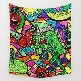 Chupacabra Loves Strawberry Melon Wall Tapestry