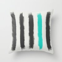 the strokes Throw Pillows featuring Paint Strokes  by Zeke Tucker