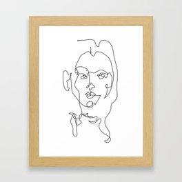 Lined Woman Framed Art Print