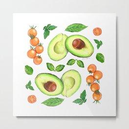 Avocados and Tomatoes Metal Print