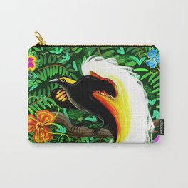 Paradise Bird Fire Feathers Carry-All Pouch