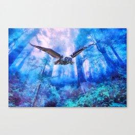 Owl flight Leinwanddruck