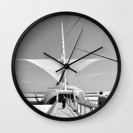Milwaukee Art Museum Architecture Photography Art Print Wall Clock