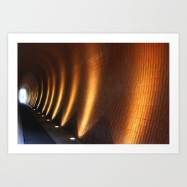 Tunnel Lights Art Print