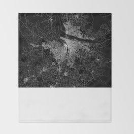 portland map Throw Blanket