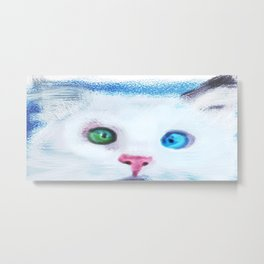 cat in chalk Metal Print