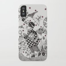 Mr. Hat goes to the Park iPhone X Slim Case