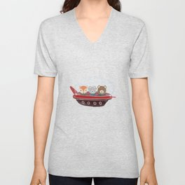 a little space adventure Unisex V-Neck