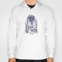 r2d2 Hoodies featuring R2D2 by KitschyPopShop
