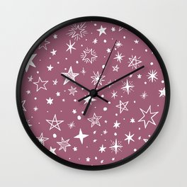 Multiple shapes and sizes stars XII Wall Clock