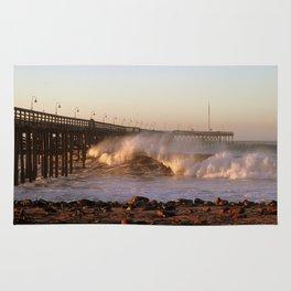 Ocean Wave Ventura Pier Rug