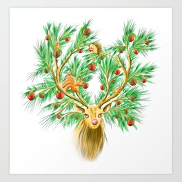 Have you finish your christmas tree yet? Art Print