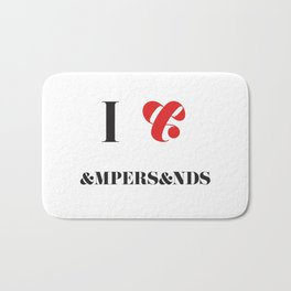 I heart Ampersands Bath Mat