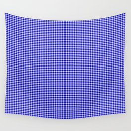 Blue Gingham Wall Tapestry