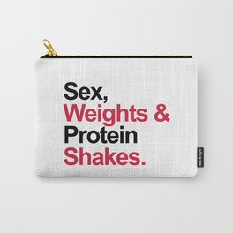 Protein Shakes Gym Quote Carry-All Pouch