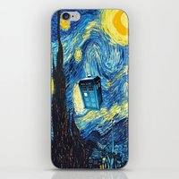 starry night iPhone & iPod Skins featuring STARRY by MiliarderBrown