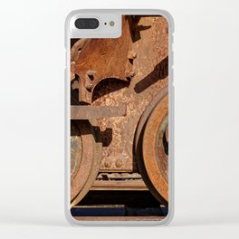 Abandoned railway car Clear iPhone Case