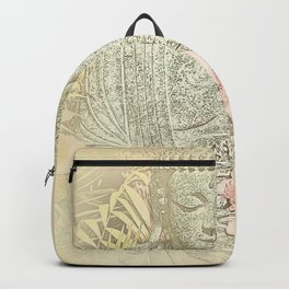 Find Your Bliss {Antique Inspired} Buddha Print Backpack
