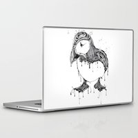 puffin Laptop & iPad Skins featuring Hawt Puffin by Gwyn Hockridge