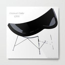 Coconut Chair Metal Print
