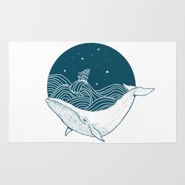 Whale dream Rug