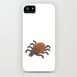 dangerous parasite - tick iPhone Case