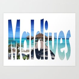 Maldives Art Print