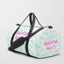 Adventure Awaits - Mint & Purple Duffle Bag