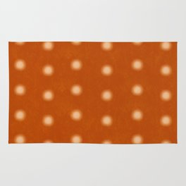 """Polka Dots Degraded & Orange Cream"" Rug"