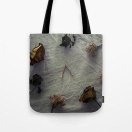 Dried Flowers and Wishbone Tote Bag