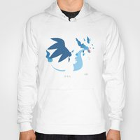 charizard Hoodies featuring Mega Charizard X PKMN by Rebekhaart