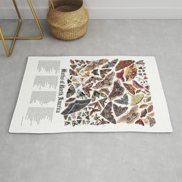 Moths of North America Rug