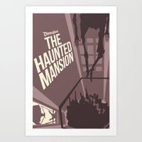 haunted mansion Art Prints featuring Haunted Mansion Version 2 by Minimalist Magic - Art by Tony Sherg