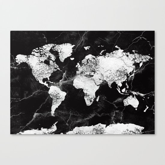 world map marble 4 Canvas Print