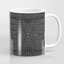 Alligator Black Leather Coffee Mug