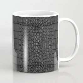 Alligator Black Leather Coffee Mug