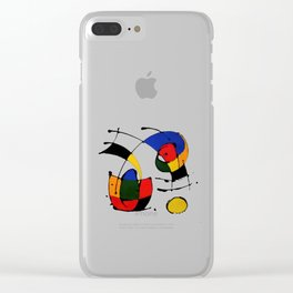 In the Style of Miro Clear iPhone Case
