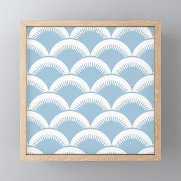Japanese Fan Pattern Pale Blue Framed Mini Art Print