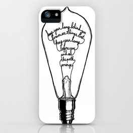 "Ode to the Bulb - ""keep your lamp"" iPhone Case"