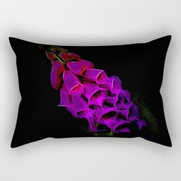 Fantastical Phosphorescent Foxglove Rectangular Pillow