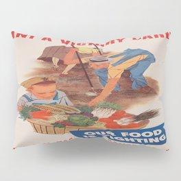 Vintage poster - Victory Garden Pillow Sham