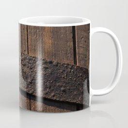 Old wood and rusty metal of a barrel Coffee Mug