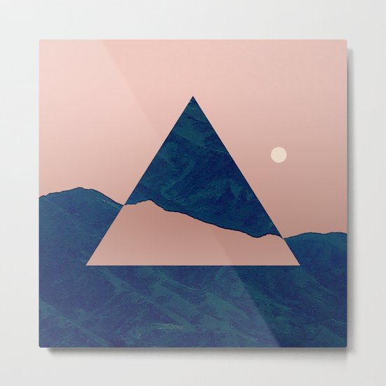 Triangle - Opposite Metal Print