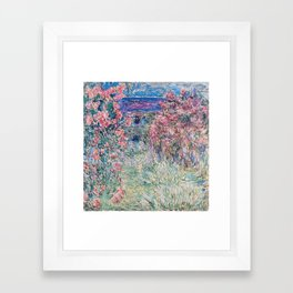 The House among the Roses by Claude Monet Framed Art Print
