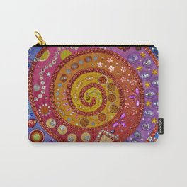 Espiral sobre fondo plata Carry-All Pouch