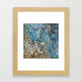 Blue Summer Water Framed Art Print