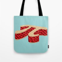 pi Tote Bags featuring Pi Pie by Rryan